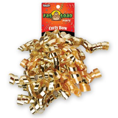 CURLED RIBBON BOW GOLDS #34063, CASE OF 192 by DollarItemDirect