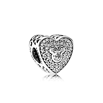 d98d97d5bda80 Buy PANDORA Disney, Mickey & Minnie Sparkling Heart Charm 792049CZ ...