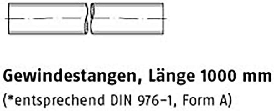 Tiges filet/ées DIN 975 12.9 M 10 VE=S