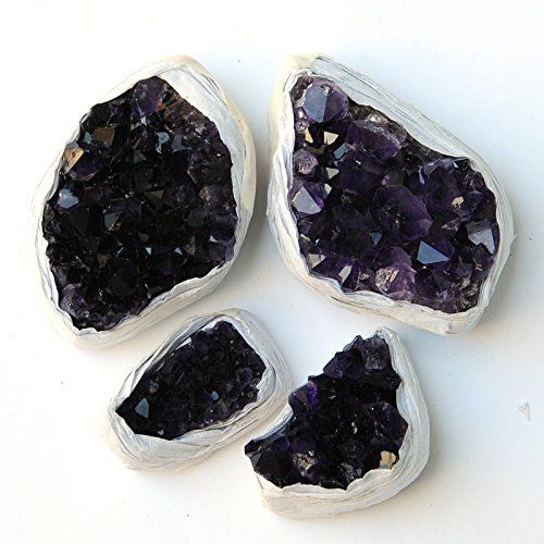 JIC Gem 10-15 Oz Extra Deep Purple Amethyst Druzy Cluster, Brazilian Crystals ,Collection and Reiki, Gifts (Cluster Gem)