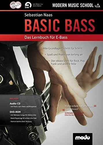 Basic Bass: Das Lernbuch für E-Bass. Bass. Lehrbuch mt CD + DVD.