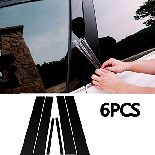 Ferreus Industries Piano Black Pillar Post Trim Cover fits 2006-2011 Honda Civic 4 Door Sedan PIL-028-GB
