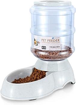 Flexzion Pet Feeder Food Dispenser Station