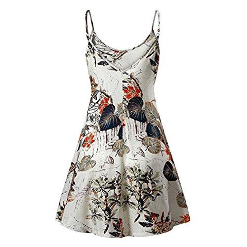 verano de Vestido Vintage de tirantes ABsolute flores tirantes de Camis camisero Beach Multicolor sin mujer Vestidos tirantes estampado con ❤️ sin mujer Pqf7w7