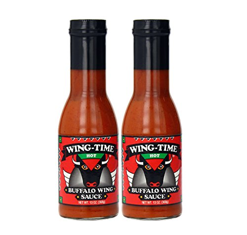 Wing Time Buffalo Wing Sauce, Hot, 13 Ounce (Pack of 2)