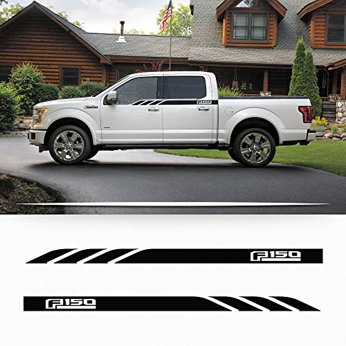 Side Panel Decal - Ford F150 2014-2016 side door panel stripe decal door graphics with F150 logo