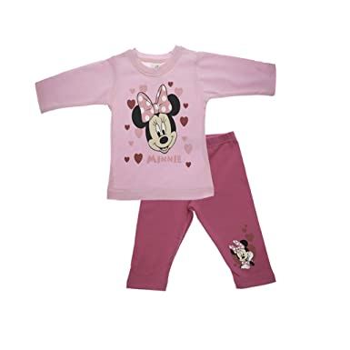 Disney Mädechen Minnie Mouse Set Weiß//Rosa//Blau Shirt Short Hose
