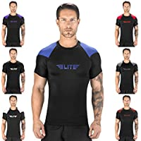 Elite Sports Standard Short Sleeve Compression, MMA, BJJ, No-Gi, Cross Training Rash Guard