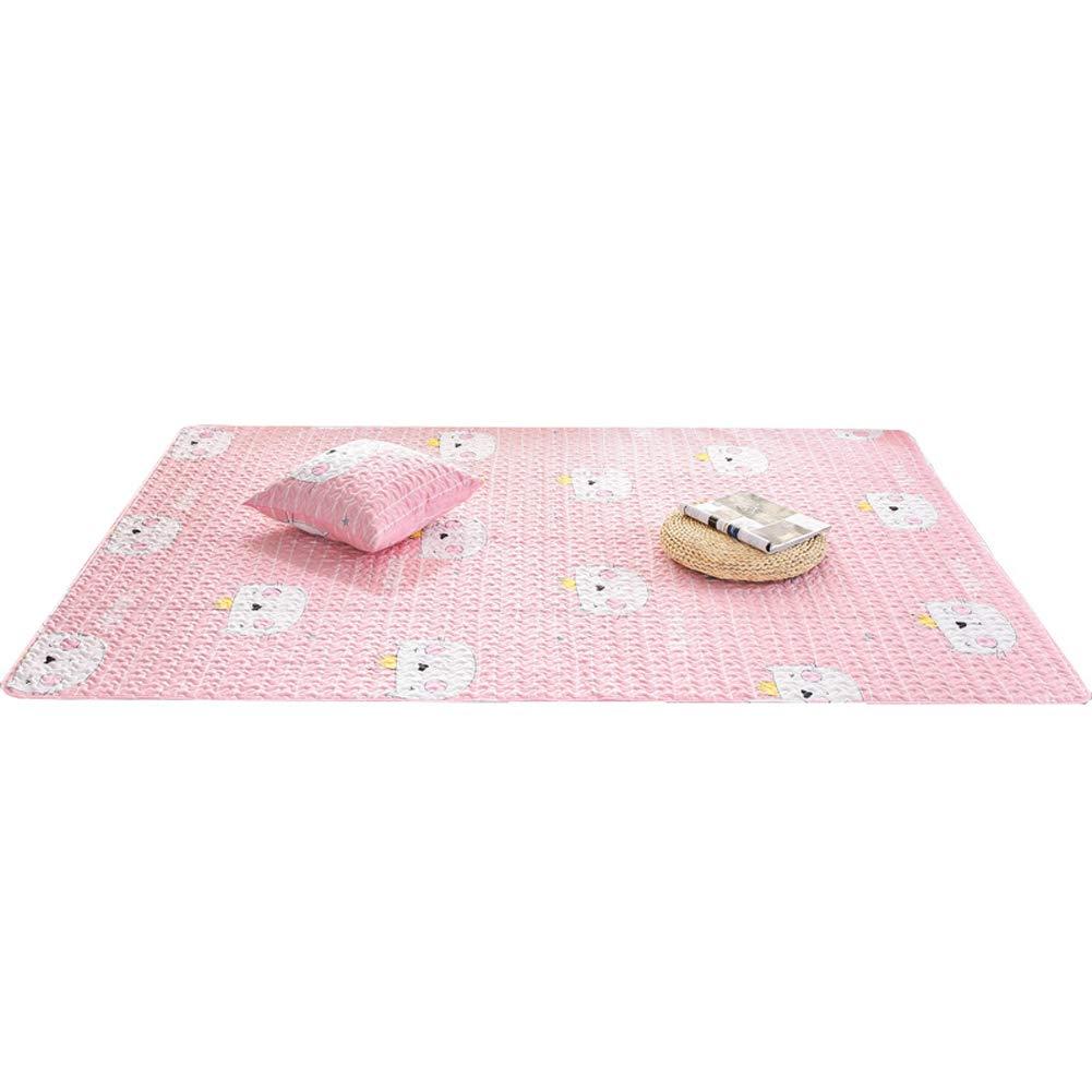 Alfombra infantil Alfombras salon Alfombra rectangular antideslizante alfombras son adecuadas para cualquier suelo duro asegurar que su alfombra es segura y en su lugar-rosado 70x180cm(28x71inch)
