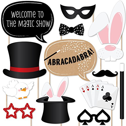 Big Dot of Happiness Magic - Party Photo Booth Props Kit - 20 Count