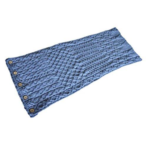 Carraig Donn 100% Merino Wool Snood Scarf With Buttons De...