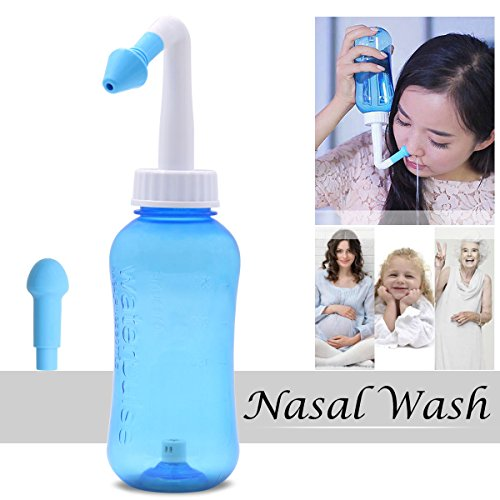 Sinus Rinse System (Xcellent Global 300ml Nasal Wash Cleaner Nasal Irrigation Sinus Rinse Nose Care for Adult and Children Allergic Rhinitis Treatment HG197)