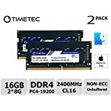 Timetec Hynix IC Apple 16GB Kit (2x8GB) DDR4 2400MHz PC4-19200 SODIMM Memory Upgrade for iMac Retina 4k/5K 21.5-inch/27-inch Mid 2017 (Single Rank 16GB Kit (2x8GB))