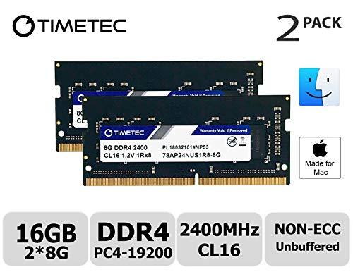 (Timetec Hynix IC Apple 16GB Kit (2x8GB) DDR4 2400MHz PC4-19200 SODIMM Memory Upgrade for iMac Retina 4k/5K 21.5-inch/27-inch Mid 2017 (Single Rank 16GB Kit (2x8GB)))