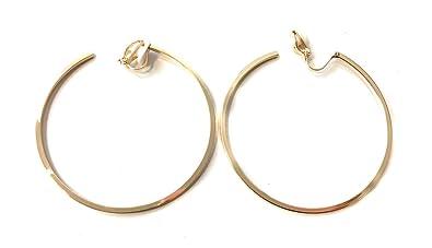 livraison gratuite ab2cf 2addd Caprilite, boucles d'oreilles de mode pour femme de 6 cm, boucles avec clip  de taille moyenne, pour oreilles non percées, en cuivre
