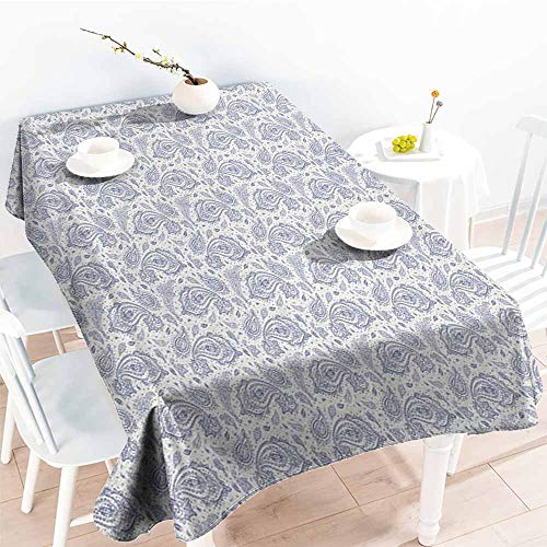 "familytaste Ethnic,Table Cloth for Outdoor Picnic Soft Toned Shabby Traditional Culture Heritage Persian Effects Sacred Motif 50""x 80"" Table in Washable Polyester"