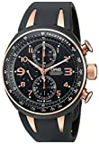 Oris Men's 674 7587 7764RS TT3 Chronograph Motor Sport Black and Rose Gold-Tone Watch