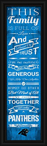 (NFL Carolina Panthers Men's Family Cheer Framed Art Print, Medium, Team Color)