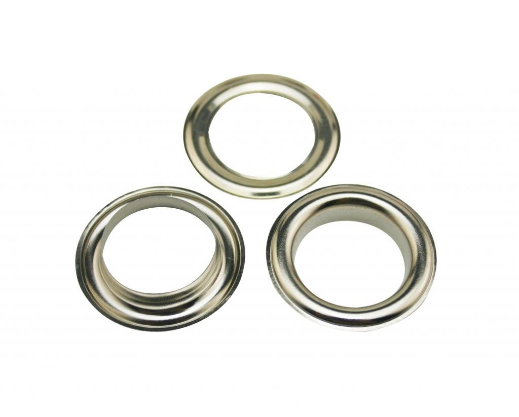 Generic Metal Silvery Eyelets with Washer 0.8 Inside Center Hole Dia Shoes Clothes Crafts Pack of 50 Sets Tianbang