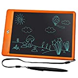 KURATU, LCD Writing Tablet 10 inch Electronic Drawing Pads for Kids, Portable Reusable Erasable Ewriter, Elder Message Board,Digital Handwriting Pad Doodle Board for School, Fridge or Office(Orange)