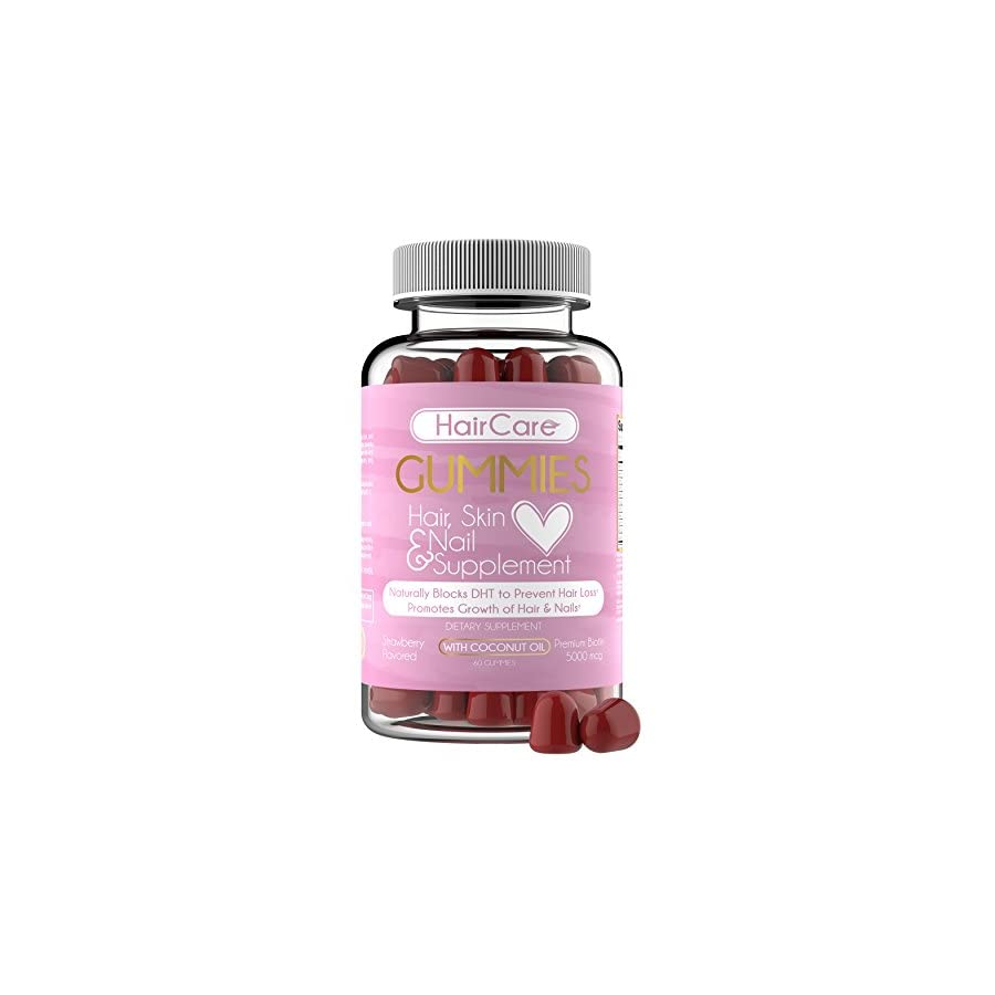 Hair Vitamins Hair Gummies Easy to Eat No Capsules, Increase Hair Strength Vitamin Biotin for Hair Growth, Strong Hair, Grow Hair Skin Nail, Healthy Hair Treatment for Scalp, Stop Hair Loss.