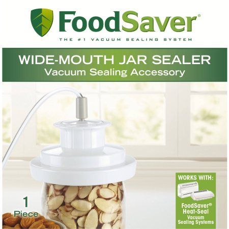 FoodSaver BPA-Free Wide-Mouth Jar Sealer Fits on your Ball and Kerr Mason jars