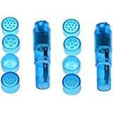 Finever 2PK Blue Pocket Rocket Mini Personal Trigger Point Massager Toys Personsal Pleasure Tool Different 4 Heads