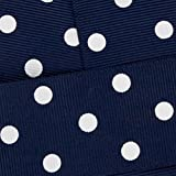 7/8'' Grosgrain Ribbon White Dots 370 Navy 25yd