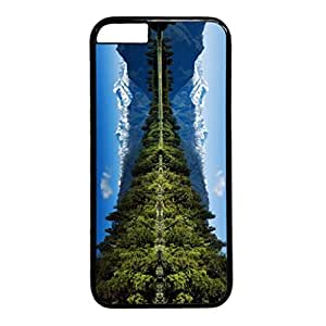 Snow Mountain Personalized Design PC Black Case for Iphone 6 Lake and Snow Mountain