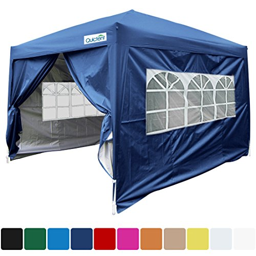 Quictent Silvox 10x10 EZ Pop Up Canopy Party Tent Instant Gazebo with 4 Walls & Roller Bag Waterproof (Navy Blue) (Navy Canopy Tent)