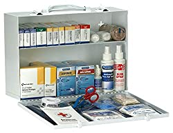 First Aid Only 90572 Ansi 2015 Compliant 2 Shelf First Aid Station With Medications