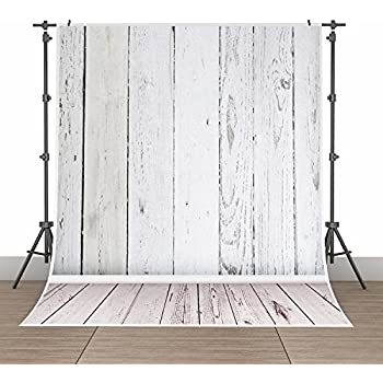 5x7ft Photography Background Vinyl Backdrop Paper Studio Props-Gray Vertical Wood Floor Wall