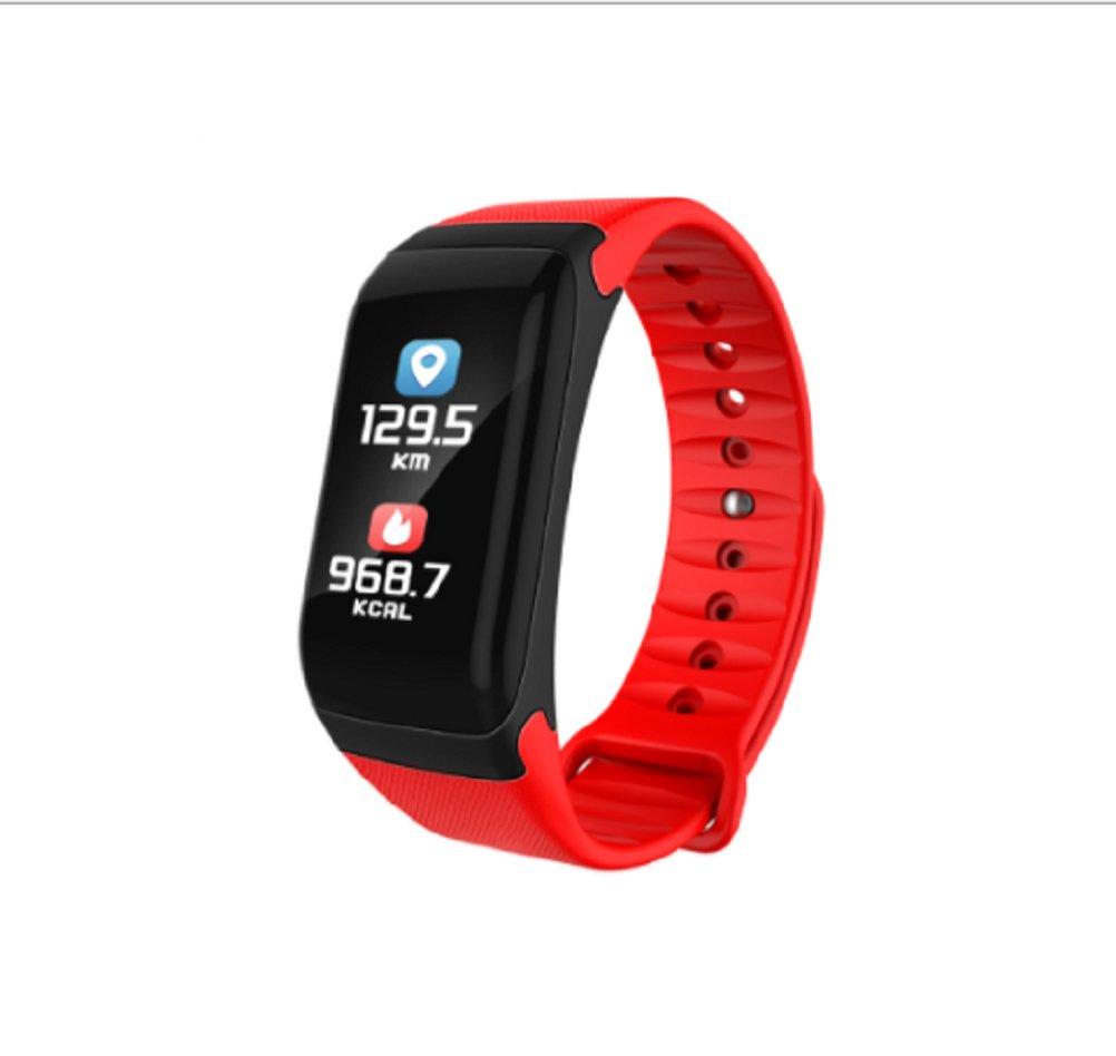 eyiou Bluetoothスマートブレスレット、フィットネストラッカー防水スポーツスマートリストバンドカラフルな画面スマートバンド腕時計ハートレートモニター、歩数計、睡眠トラッカー、Calorie Counter  レッド B07CC9R1PG