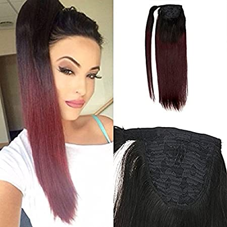 Moresoo 24 Inch Ponytail Extension Ponytail Hair Piece 100 Grams Ash Blonde #18 Highlighted with Bleach Blonde #613 Natural Remy Hair Ltd