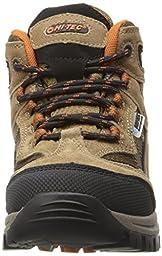 Hi-Tec Kids Unisex Hillside Waterproof Jr hiking Boot (Toddler/Little Kid/Big Kid), Brown/Orange, 7 M Big Kid