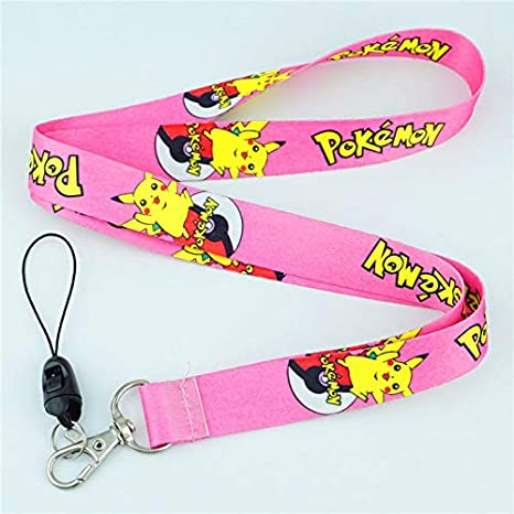 Pokemon Go Pikachu Lanyard Neck Strap for ID Badge Holders Cell Phone Rope
