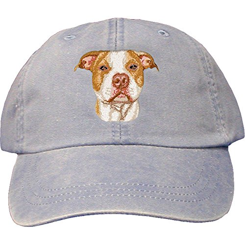 Cherrybrook Dog Breed Embroidered Adams Cotton Twill Caps - Periwinkle - American Pitbull ()