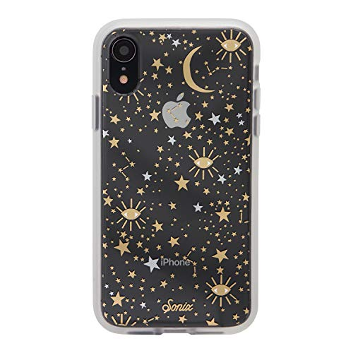 Case Design Silver Stars (iPhone XR, Sonix Cosmic (Gold, Silver, Stars) Cell Phone Case [Military Drop Test Certified] Protective Clear Case for Apple iPhone (6.1