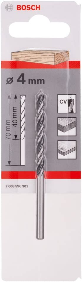 Lip /& spur wood drill bit 3.0mm brad point for clean holes in wood and board