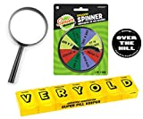 Over the Hill Birthday Gag Gift - Over the Hill Survival Kit with Senior Decision Spinner, Pill Holder, Magnifying Glass and Button