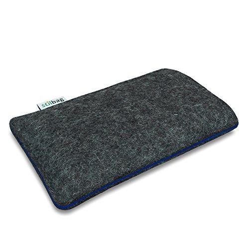 Stilbag Filztasche 'FINN' für Apple iPhone 6 - Farbe: anthrazit/blau