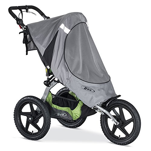BOB Sun Shield for Single Fixed Wheel Jogging Strollers, Grey by BOB