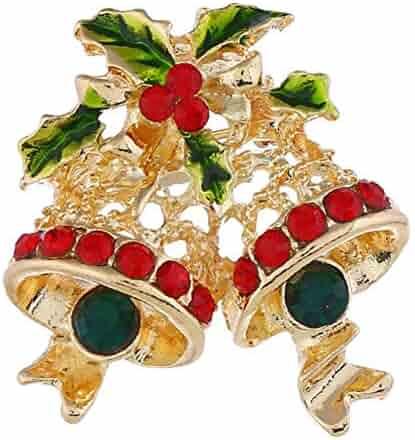 Enamel Lapel Badge Brooch Pin Xmas Tree Santa Snowman Rhinestone Inlaid Brooch Pin Shirt Collar Breastpin KOqwez33 Christmas Enamel Pin