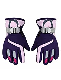 Children Ski Gloves for 3-6 Years Boy/Girl, Waterproof Windproof Winter Snow Gloves for Outdoor Sports Mountain Climbing, Hiking, Riding