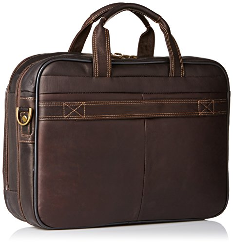 e38393a7e89d Heritage Travelware Colombian Leather Dual Compartment Top Zip 15.6 ...