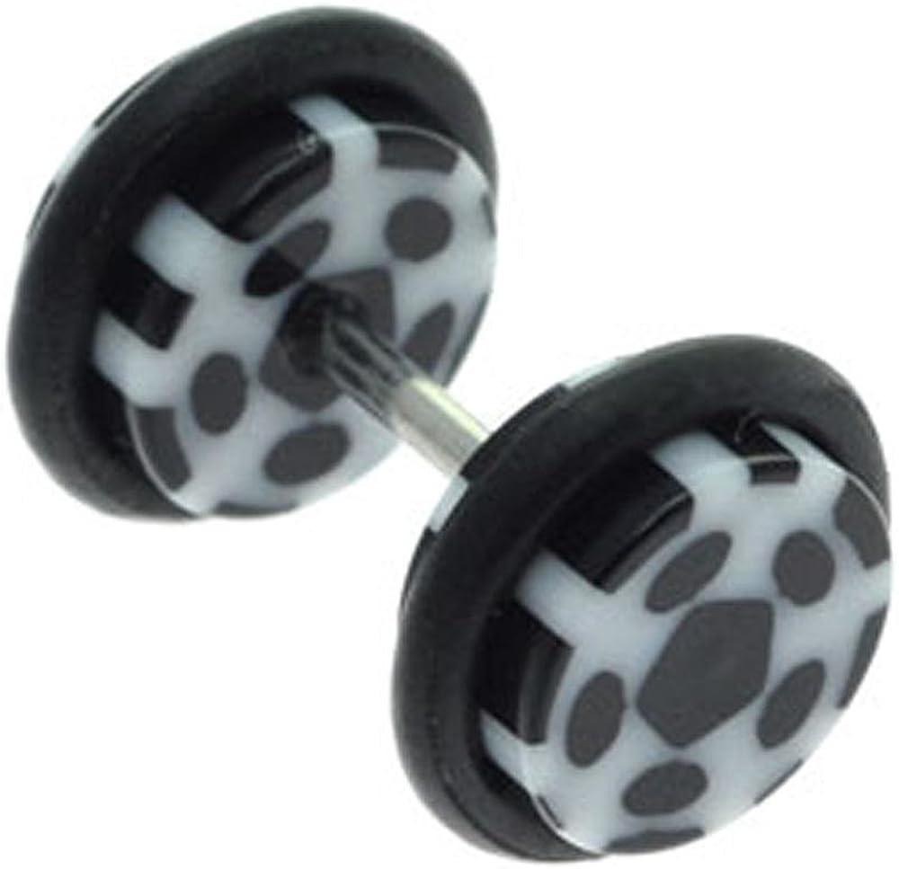 Black Dots BodyJewelleryShop Fake Flesh Plug