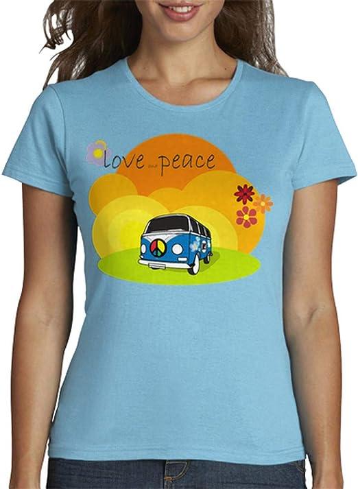 latostadora - Camiseta Tostada VW Hippie V01 para Mujer: juanjoborges: Amazon.es: Ropa y accesorios