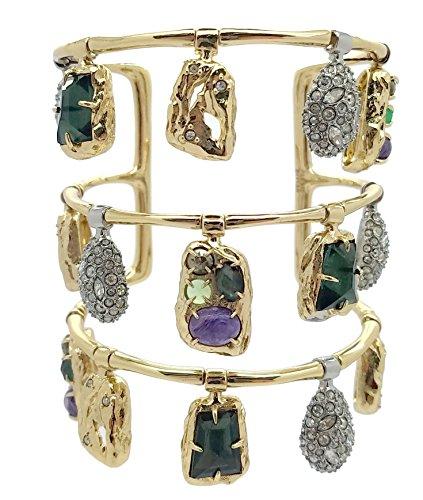 Alexis Bittar Swinging Charms Cuff Bracelet, 10K Gold