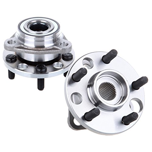 Chevrolet Corsica Wheel Hub - OCPTY Wheel Bearing Hub 513017 (2PCS) Front Bearing Assembly 5 Lugs Replacement fit for Buick/Cadillac Cimarron/Chevy/Oldsmobile/Pontiac