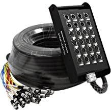 Seismic Audio-SAEM-16x8x150-16 Channel XLR Snake Cable 150-Feet Long-16 XLR Sends and 8 XLR Returns-Color Coded, Numerically Well Labeled-Heavy Duty 150 Feet Long